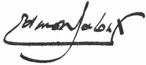Signature d'Edmond Jaloux sur sa notice de l'Académie française